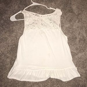 White Lacey tank top